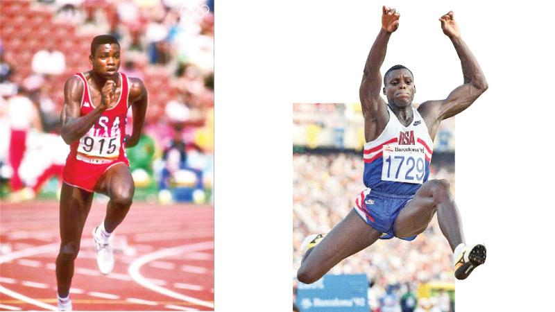 Carl Lewis emulated Jesse Owens' historical feat of four Olympic Golds-