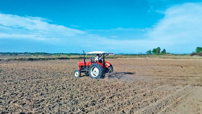Farmers in Ampara prepare paddy fields