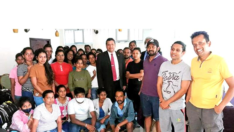 Sri Lankans with Lankan Ethiopian Embassy officials in Addis Ababa