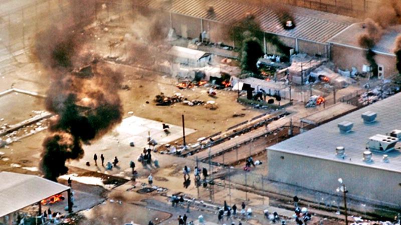 A  Prison riot in Texas (Courtesy - www.aljazeera.com