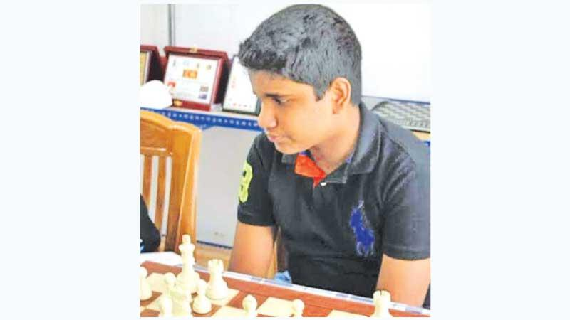 The current National Chess Champion -under 14 Susal de Silva