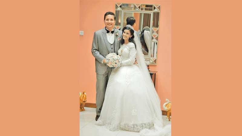 Imran Bisthamin and his bride Raheema Issadeen
