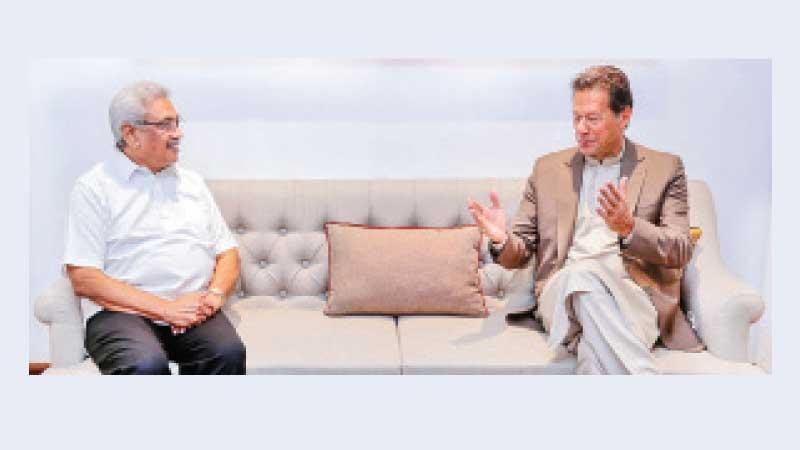 President Gotabaya Rajapaksa holds discussions with Pakistan Premier Imran Khan