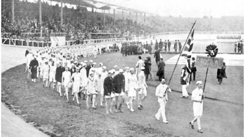Britain's team during the Opening Ceremony