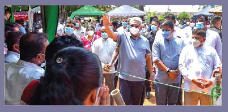 President Gotabaya Rajapaksa meets people in Vavuniya