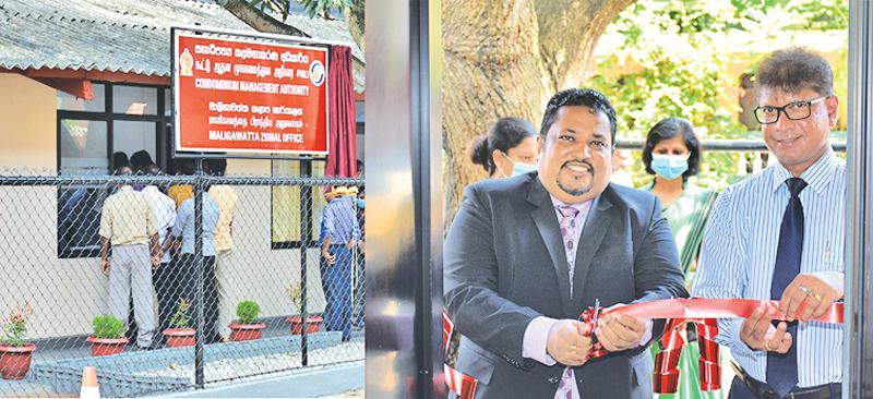 CMA Chairman Attorney-at-Law Sarana Karunaratne and General Manager Dr. Indunil Liyanage opened the first Zonal Office of the Condominium Management Authority