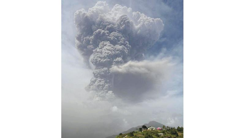 A second explosion   caused a large vertical column of ash. - BBC