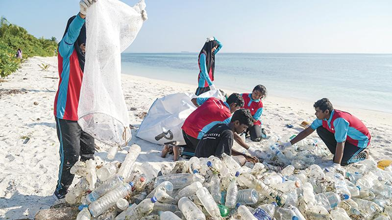 Fishermen in India's southern state of Kerala were paid to recycle the plastic bags, straws, flip-flops, and other plastic detritus caught in their nets.