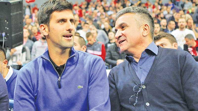 Novak Djokovic and father Srdjan Djokovic