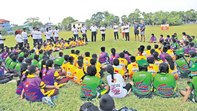 School children in Batticaloa come together at a maiden rugby camp