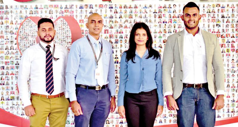 From left: Manoj Wijewardane, Manager, Digital Commerce, Seylan Bank, Chaminda Senewiratne, Head of Digital Banking Channels, Seylan Bank, Urmila Chandrasekeram, CEO, Mintpay and Kukaraj Tharmasegaram, CTO, - Mintpay.
