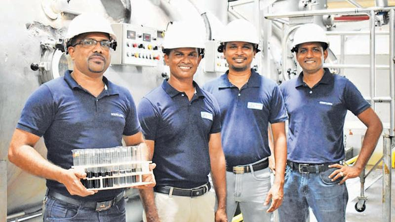 The 'Ocean Aqua+' dyeing system project team