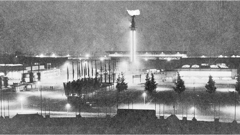 First appearance of the Olympic Flame at Amsterdam 1928