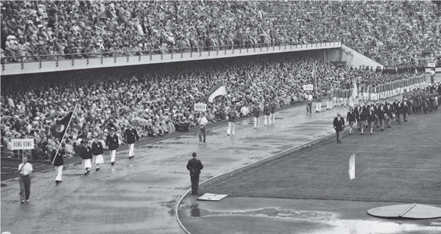 Athletes' Parade at Helsinki 1952
