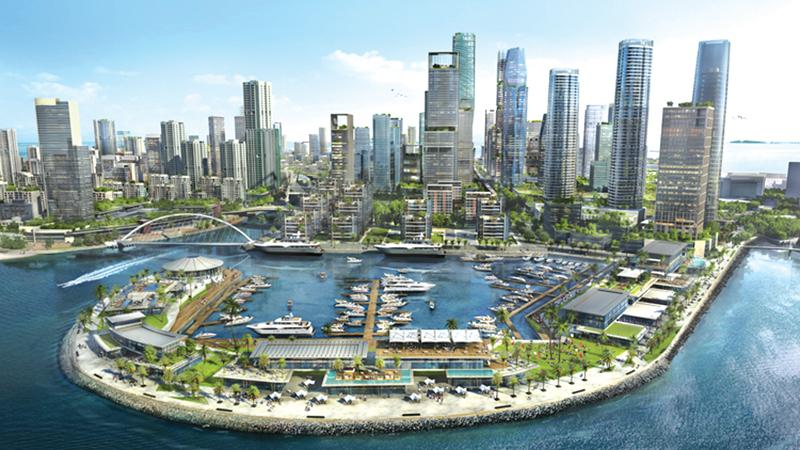 At least three to four percent of GDP should come from outside as FDI to patch the gap in our investment needs. An artist's impression of Colombo Port City