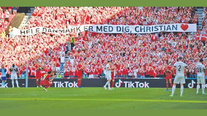 The huge crowd at the Euro match between Belgium and Denmark