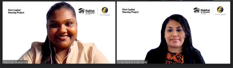 From left:  Corporate Relations and Resource Development, Habitat for Humanity Sri Lanka, Melissa Jayasuriya and Senior Manager, Branding and Marketing Services, First Capital Holdings, Nisansala Munasinghe.