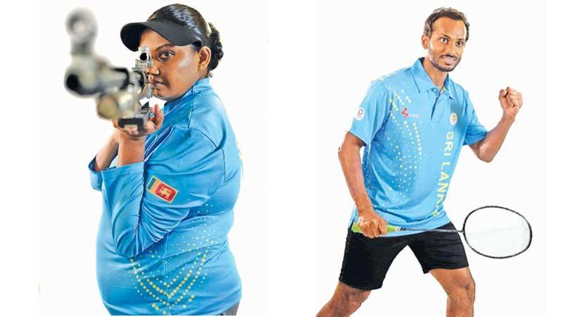 Rifle shooter Tehani  Egodawela hard at training in Brandix attire-Shuttler Niluka Karunaratne, down to play in his third successive Olympics, in new kits supplied to the team by Brandix
