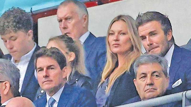 Tom Cruise and David Beckham at the Euro 2020 final