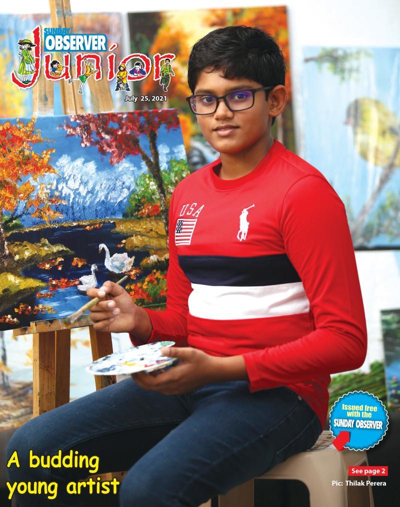 A budding young artist