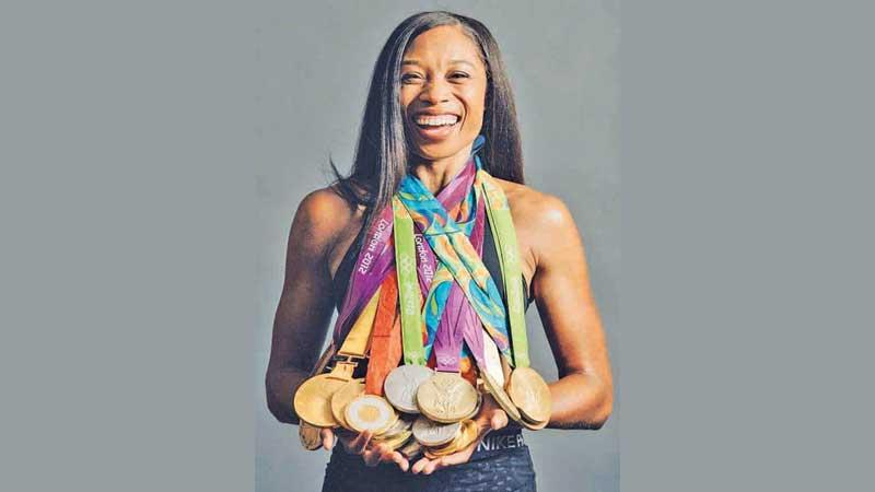 Allyson Felix of the United States