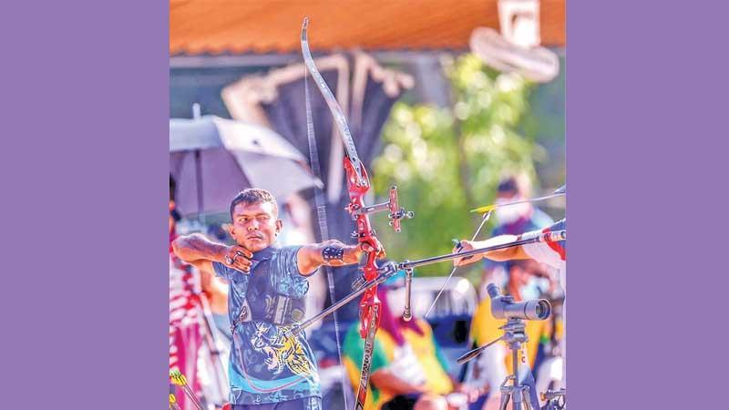 Sampath Bandara at the Tokyo Paralympics ranking event