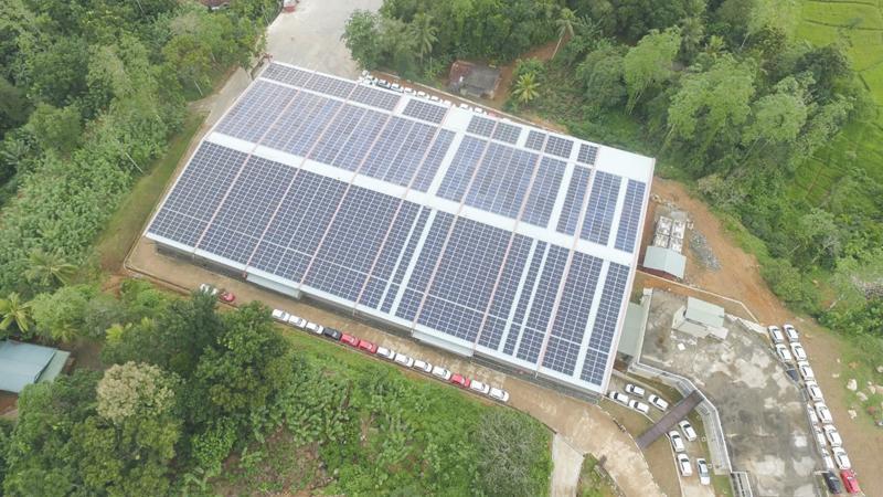 The 805 KW solar system installed at Mahindra Ideal Lanka