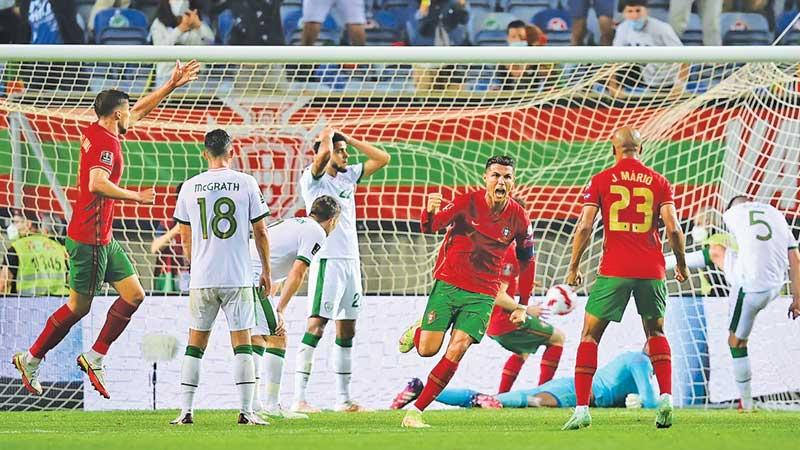 Cristiano Ronaldo has scored 28 headers for Portugal, including his two against the Irish