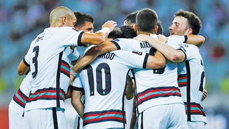 Portugal players celebrate