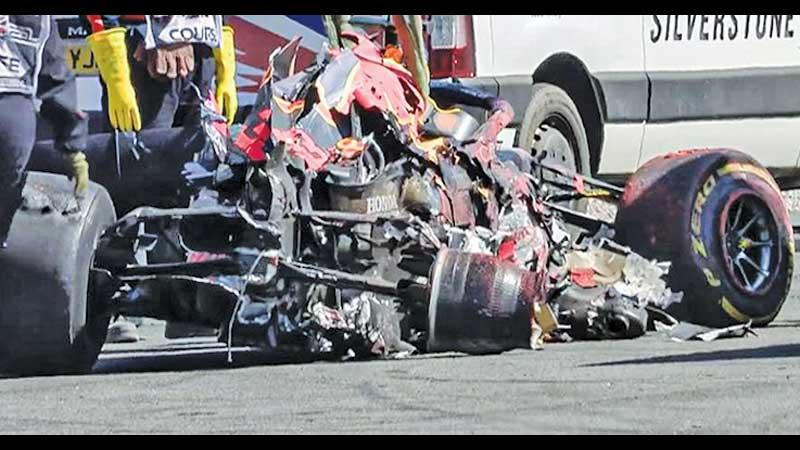 The wreck after the crash