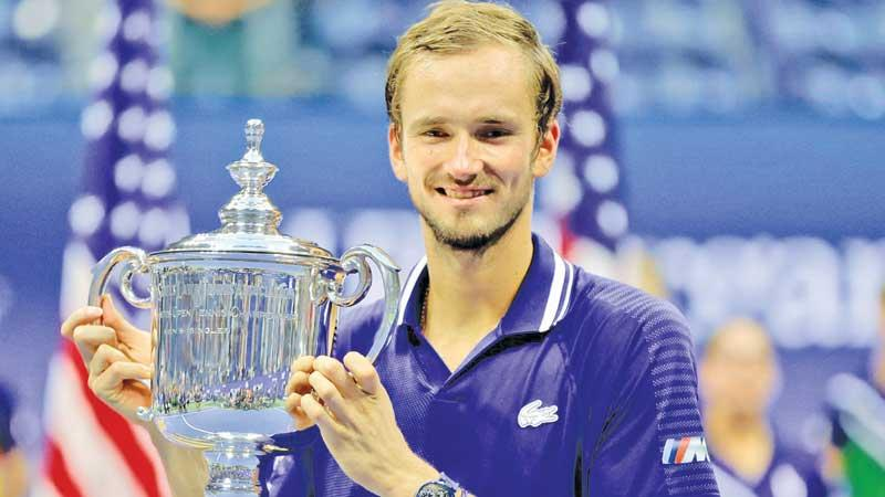Daniil Medvedev the new champ with the US Open prize