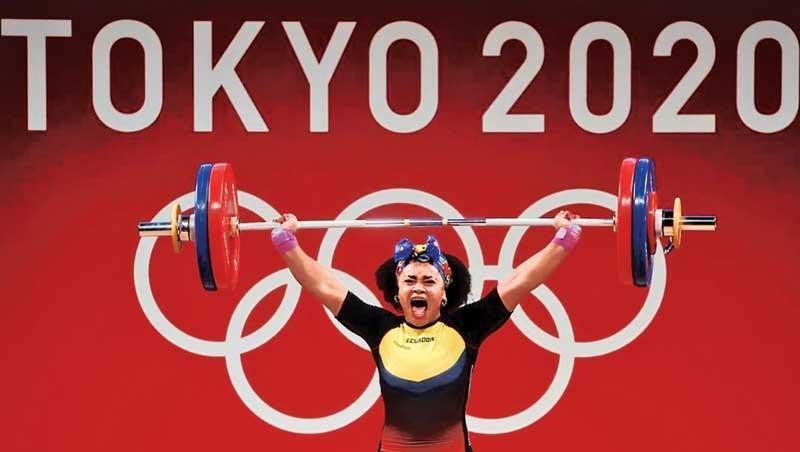 Dajomes Barrera of Ecuador who won Women's 76 kg