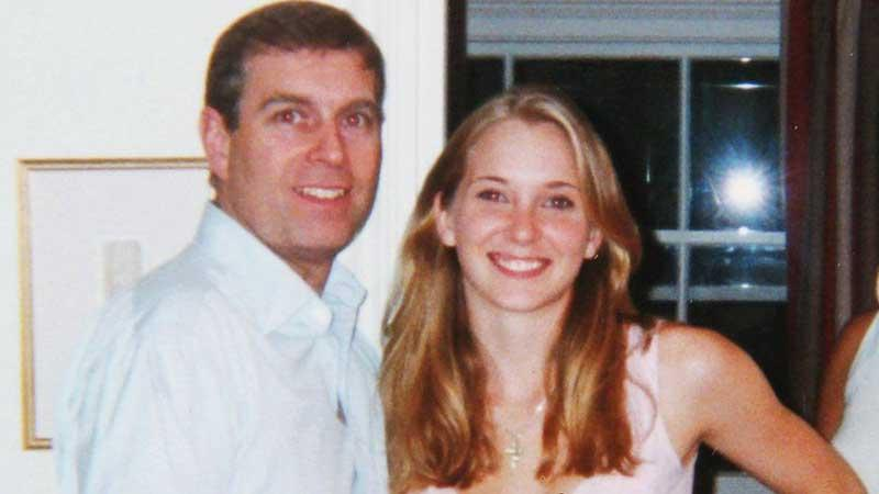 Virginia Giuffre, then Roberts,with Prince  Andrew in London in 2001
