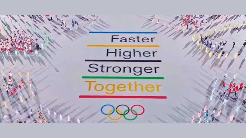 The slogan of the Olympic Games unveiled at Tokyo 2020