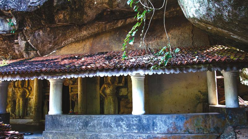 The exterior of the cave temple