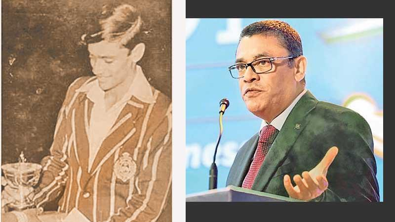 Royal captain Ranjan Madugalle winning the Observer Schoolboy Cricketer award in 1979-ICC Chief Referee Ranjan Madugalle addressing the 2018 Observer-SLT Mobitel School Cricketers' Awards show as the chief guest